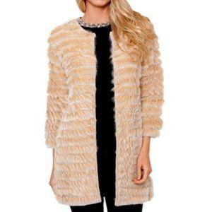 Love Token Genuine Rabbit Fur Cardigan Sweater